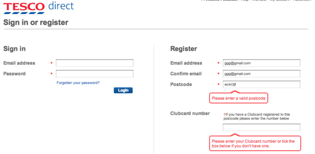 Tesco Job Application Form 2017 Job Application Center Are Online Retailers Being Tripped Up By Postcode Entry