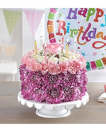 Birthday Wishes Flower Cake in Bradenton FL - Oneco Florist