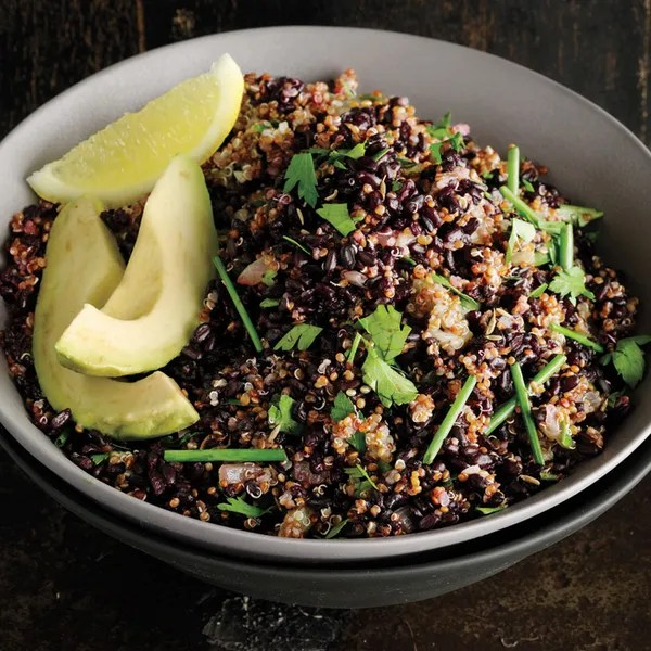Cumin-Scented Quinoa and Black Rice recipe Epicurious