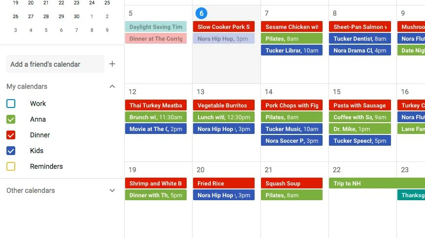 How to Use Google Calendar for Meal Planning - Epicurious