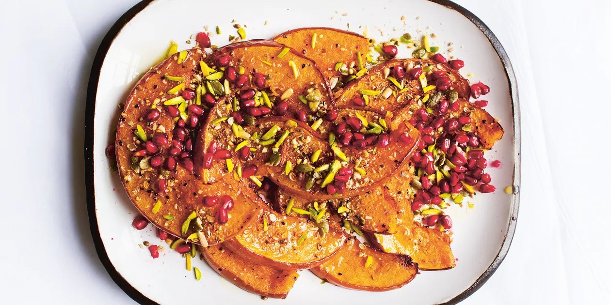 Pomegranate Pics Roast Pumpkin With Dukkha And Pomegranate