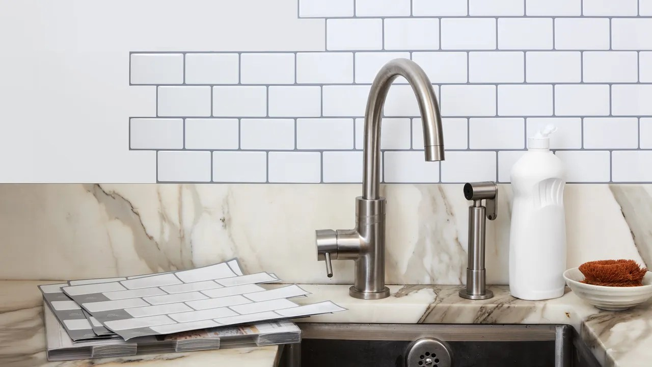 Kitchen Tile Pictures Self Adhesive Wall Tiles Will Transform Your Kitchen Epicurious