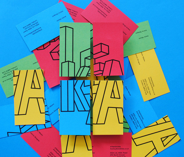 Ikea Business Card A Playful New Brand Identity For Ikea