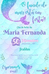 Convite Sereia