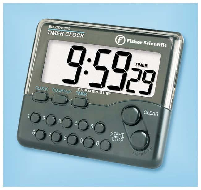 Fisherbrand Traceable Electronic Timer Clock 10-Hour Timer range