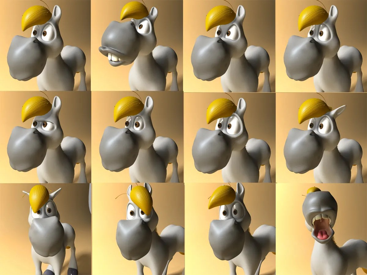 3d Models For Animation Cartoon Horse Rigged And Animated