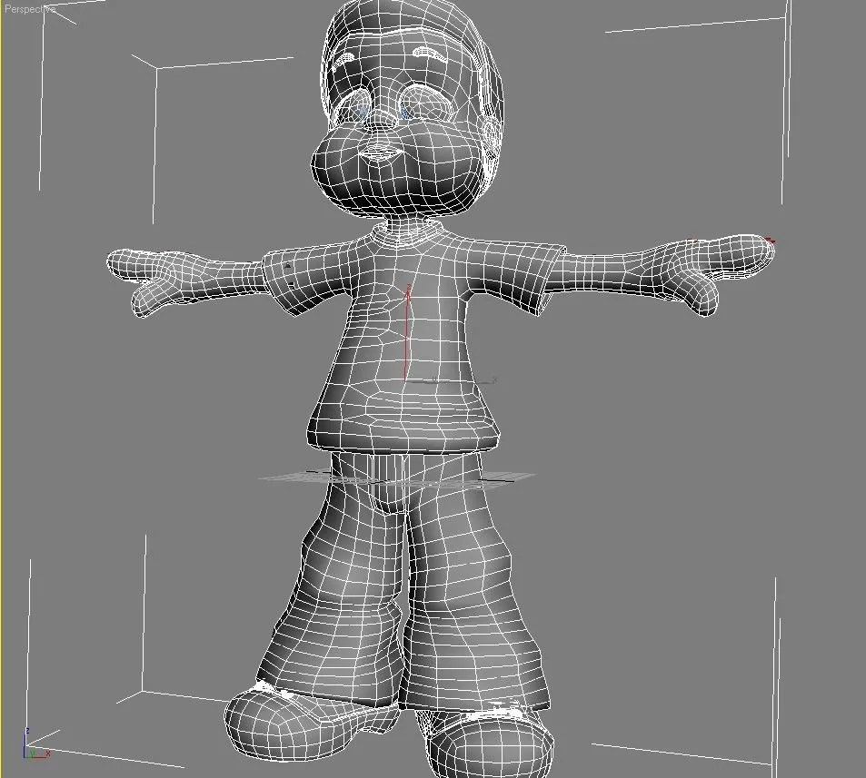 3d Models For Animation Cartoon Boy Rigged