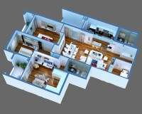 Luxury Detailed House Cutaway 3D Model 3D Model | FlatPyramid