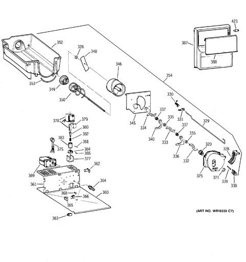 schematic diagram of icemaker wr30x0327 in refrigerator sr1027