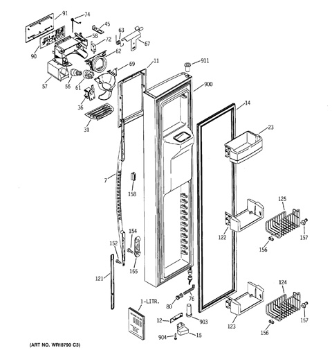 refrigerator assembly diagram