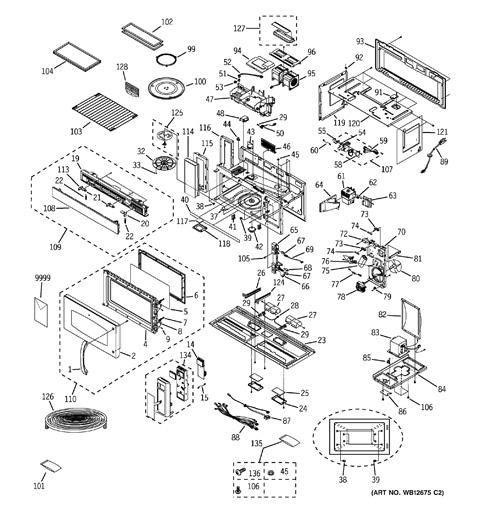 sharp carousel microwave parts diagram
