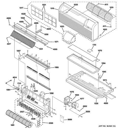 wiring model ge diagram ptac az5509dadm1