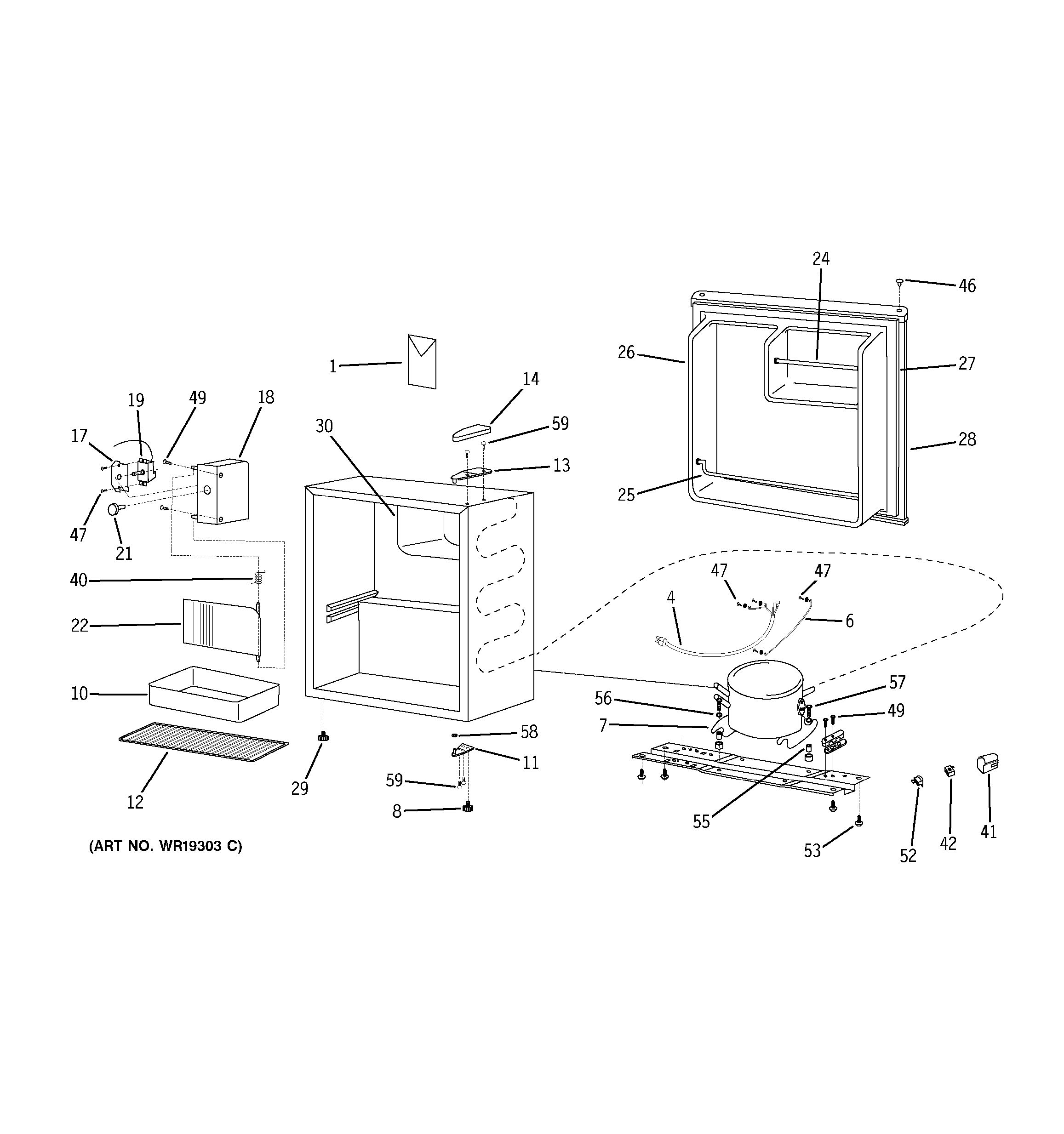 wire diagram for ge refrigerator 22 25