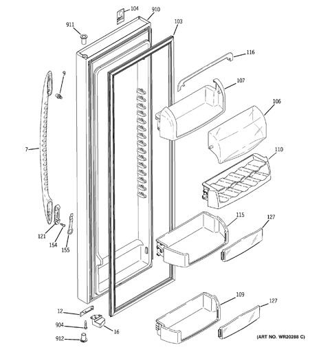 ge profile refrigerator schematic