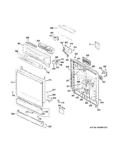 ge induction cooktop parts