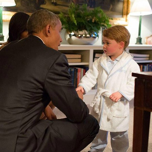 Royals Royal Car Wallpaper Prince George Meets Barack Obama In His Dressing Gown