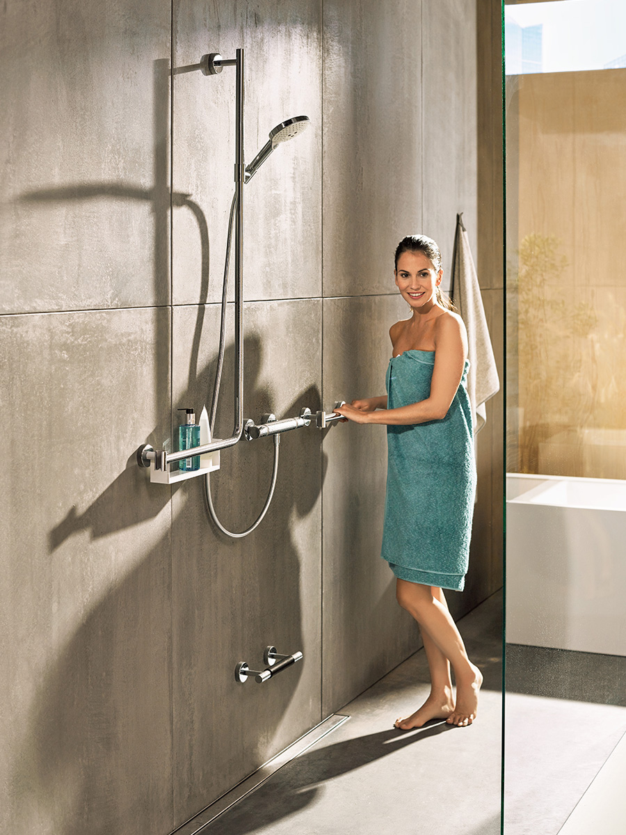 Brauseset Grohe Grab Bar For The Shower: Unica Comfort | Hansgrohe Int
