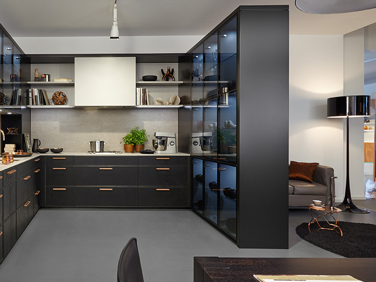 Black Design For Kitchen The Trend Is Toward Open Plan Kitchens Hansgrohe Usa