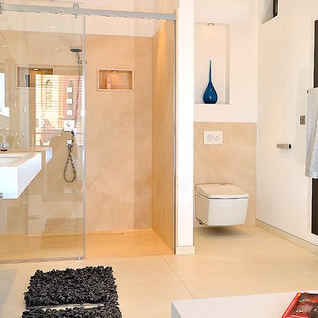 Dusche mit bodenebenem Einstieg - Bad-Trend von Hansgrohe DE - badezimmer nur mit dusche