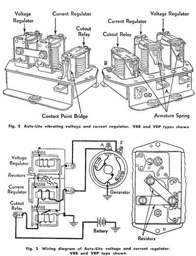 6 volt autolite generator wiring diagram