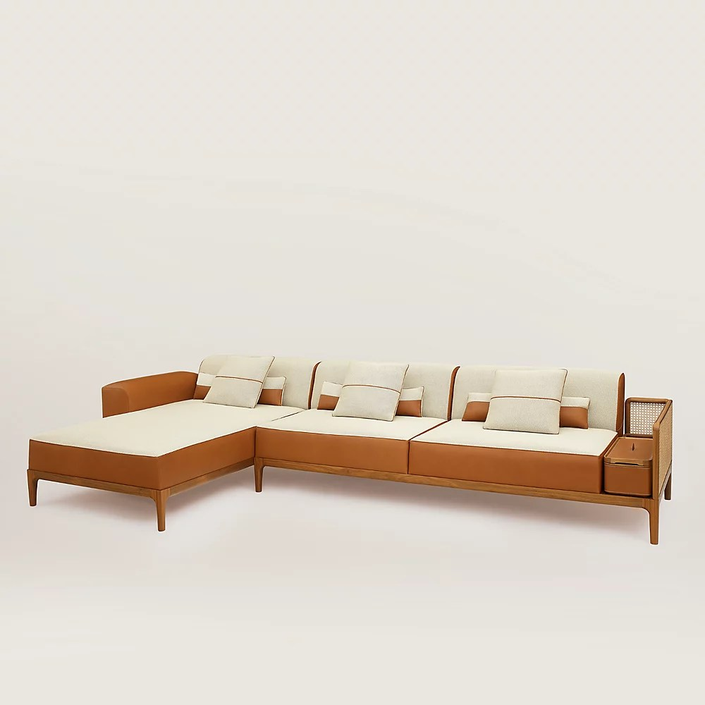 Sofa Sellier 2 Seater With Chaise Lounge Hermès Finland