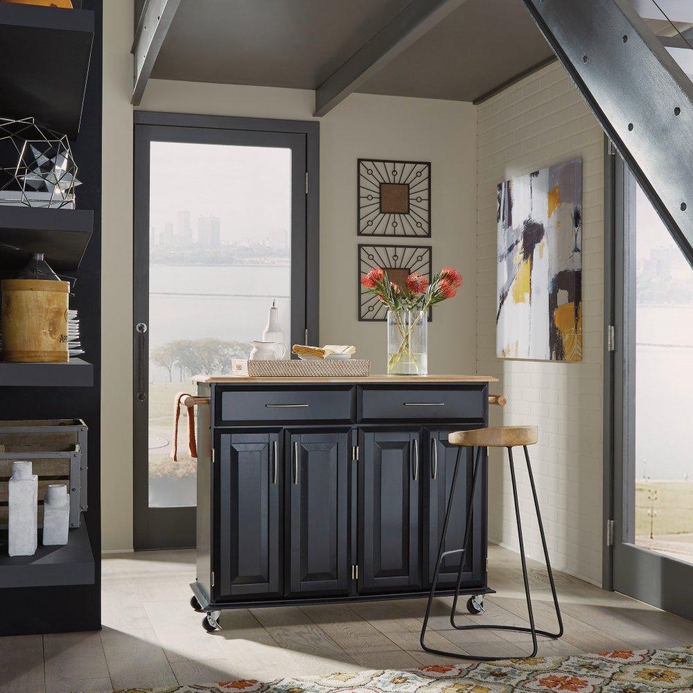 Dolly Madison Black Island Cart | Homestyles