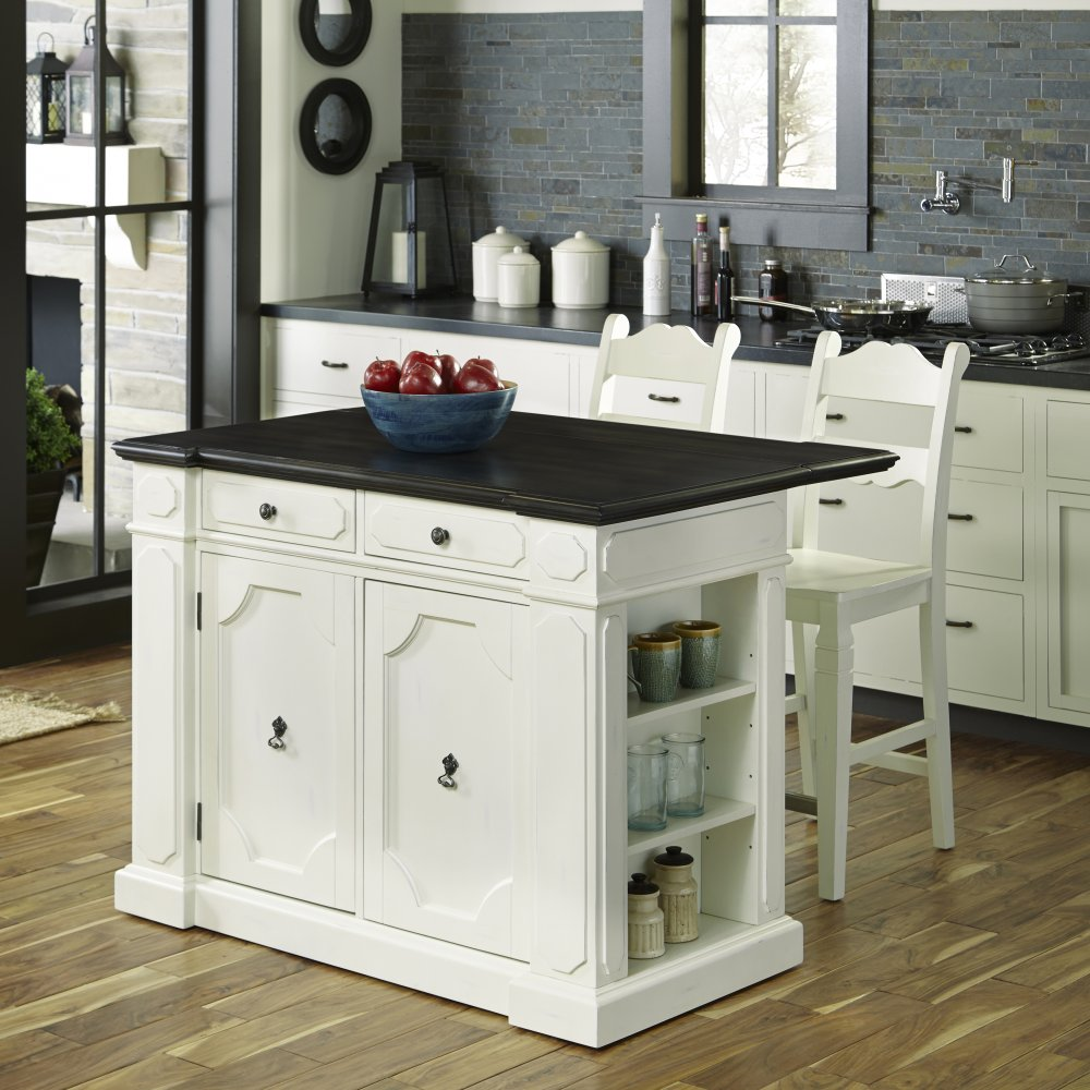 Stools Kitchen Islands Fiesta Wood Top Kitchen Island With 2 Stools Home Styles