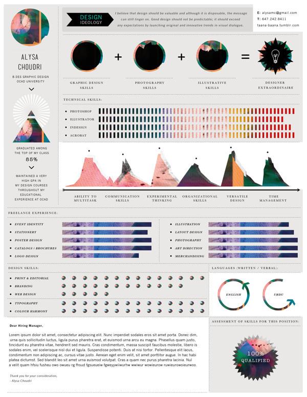 50 Awesome Resume Designs That Will Bag The Job - Hongkiat - resume graphic designer