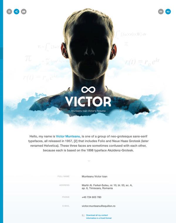 50 Awesome Resume Designs That Will Bag The Job - Hongkiat - resume website design
