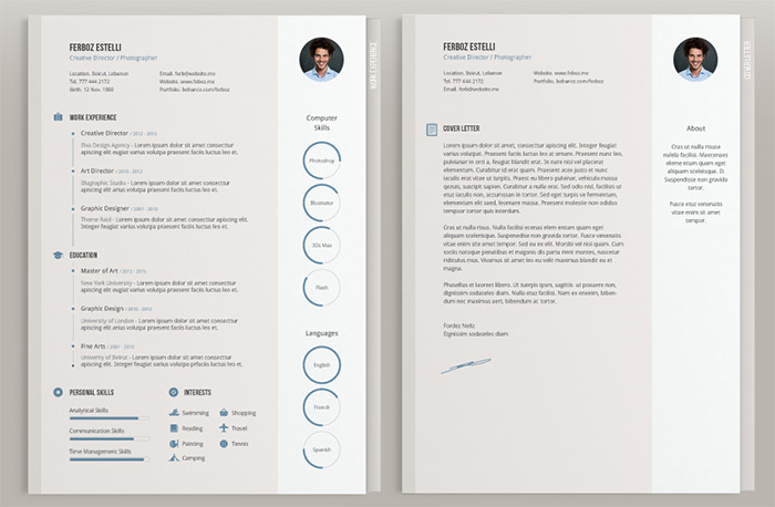 30 Free  Beautiful Resume Templates To Download - Hongkiat