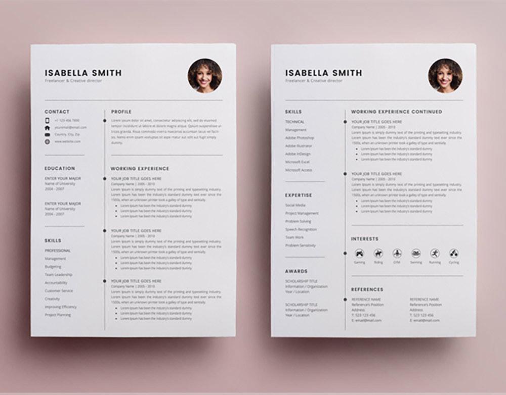 beautiful resume templates download