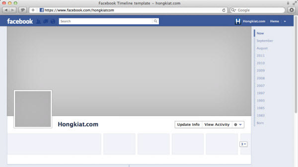 Facebook Timeline Cover 40 (Really) Creative Examples - Hongkiat - sample personal timeline