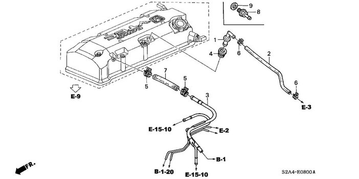 Replacing the PCV Valve on a Honda S2000 AP2