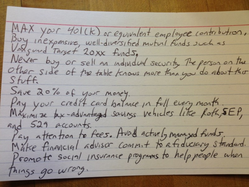 Everything You Need to Know About Personal Finance On a 4x6 Index - make index card