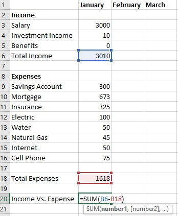 Have 5 Minutes? Create a Free Budget Template in Excel - The Finance - expense budget template