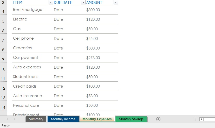 Have 5 Minutes? Create a Free Budget Template in Excel - The Finance