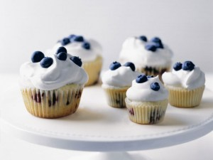 Blueberries and Cream Cupcakes