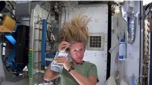 How to wash your hair in outer space