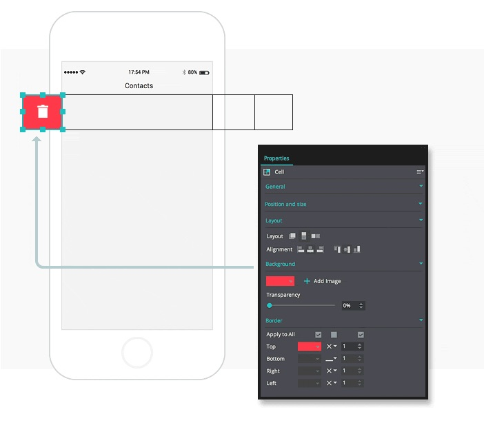 Create interactive contact lists in your mobile prototypes