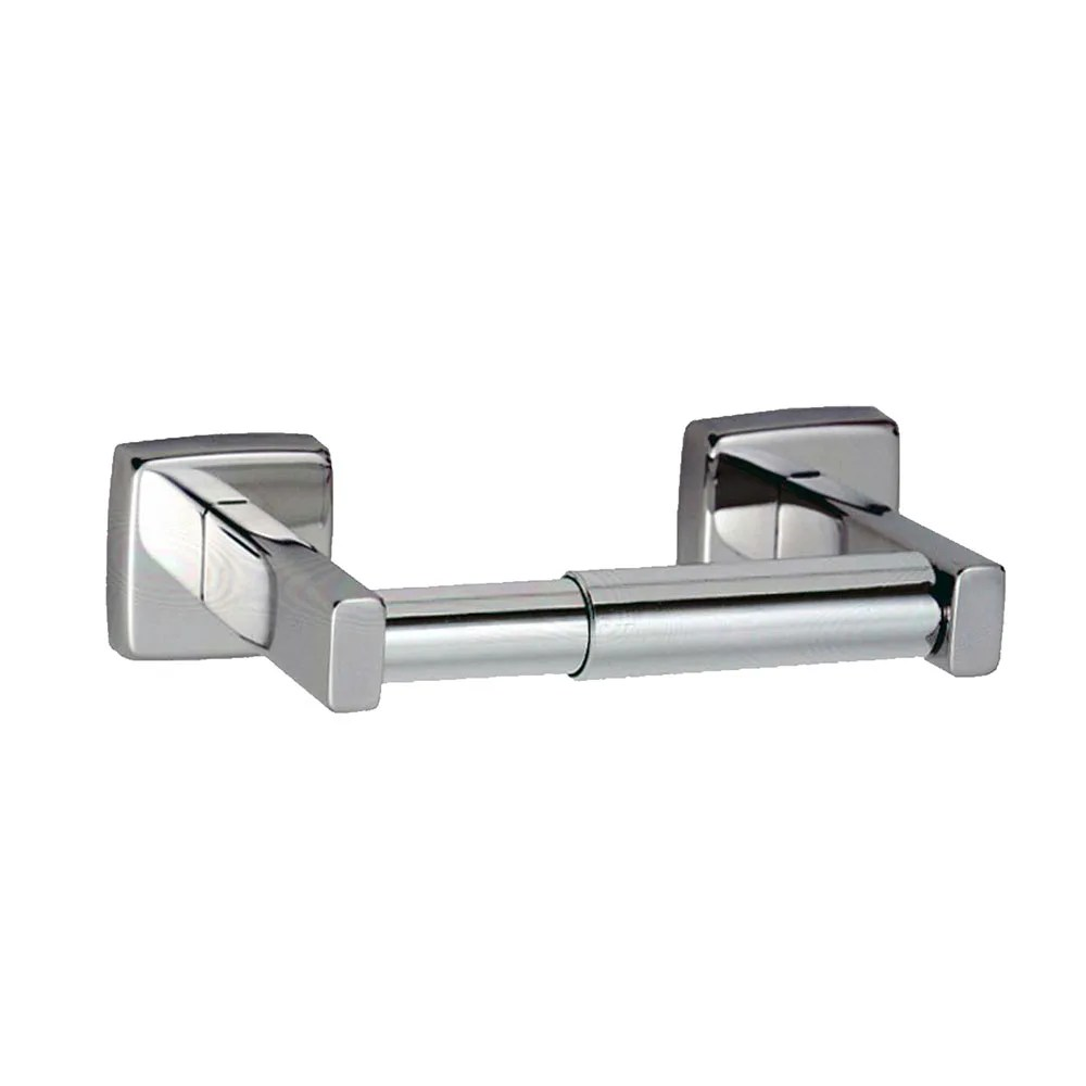 Stainless Steel Toilet Roll Holder Bobrick B 6857 Surface Mount Open Spindle Toilet Tissue Disp 1 Roll Satin Finish
