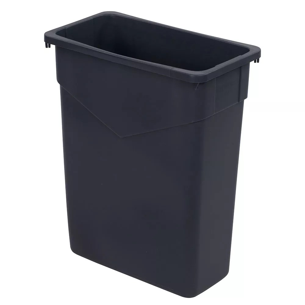 Laundry Trash Cans Carlisle 34201523 15 Gallon Commercial Trash Can Plastic Rectangular Built In Handles