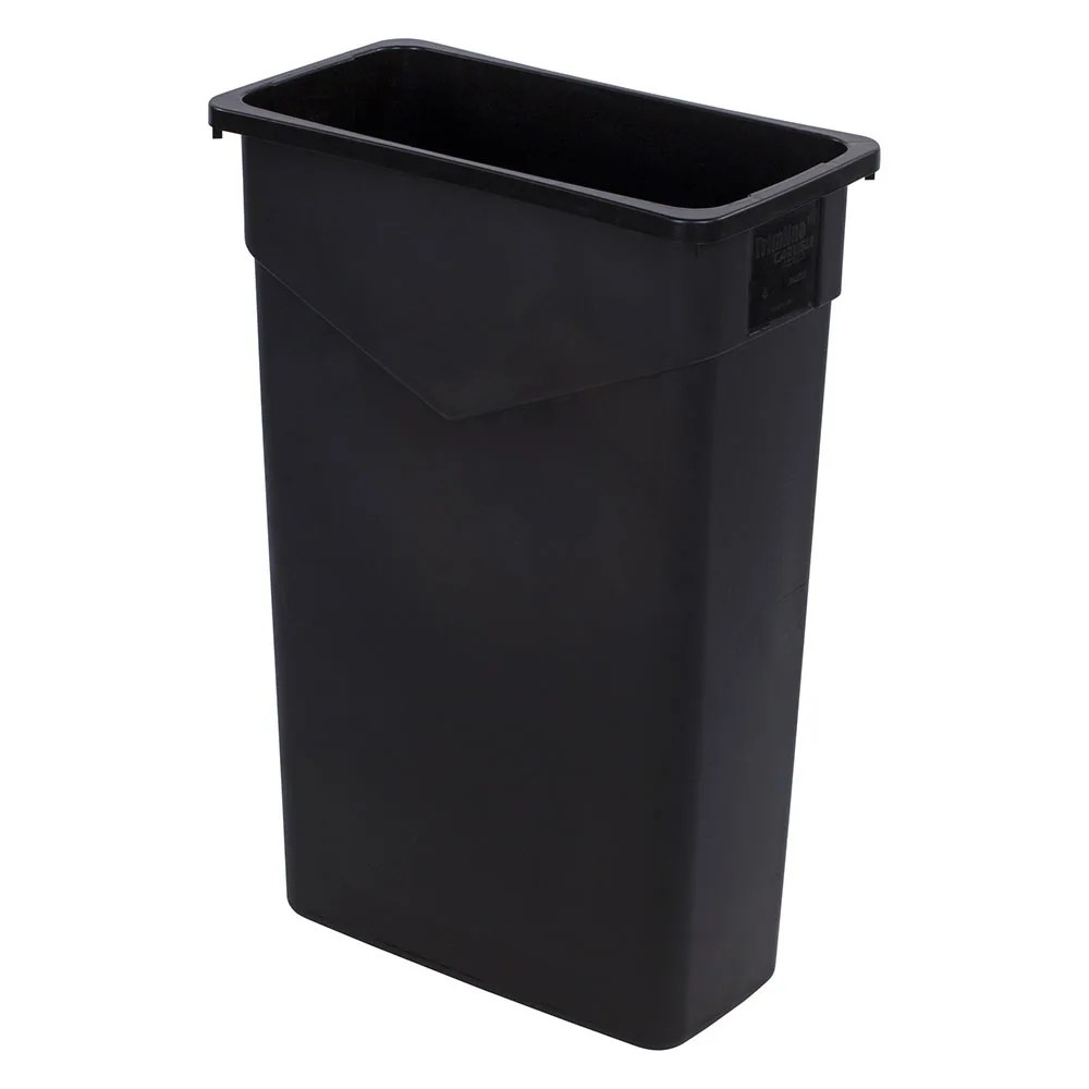 Laundry Trash Cans Carlisle 34202303 23 Gallon Commercial Trash Can Plastic Rectangular Built In Handles