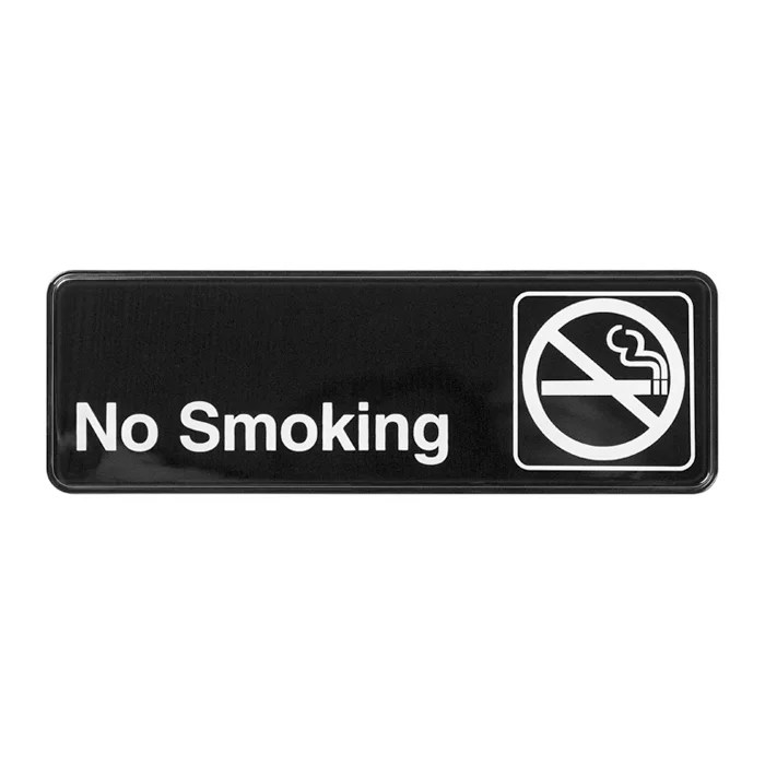Winco SGN-310 Information NO SMOKING Sign w/ Symbol, 3 x 9\