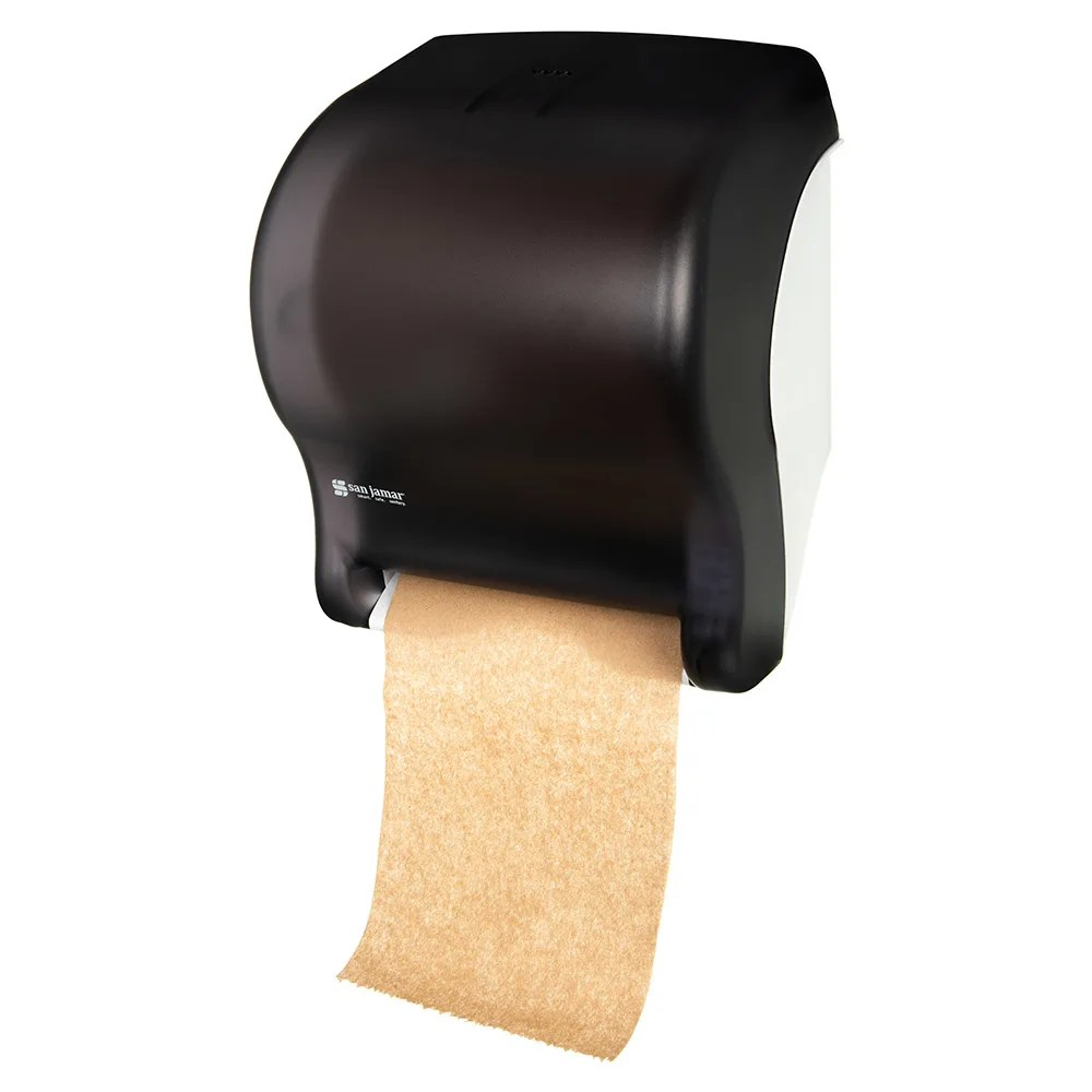 Wall Mount Paper Towel Dispensers San Jamar T8000tbk Tear N Dry Essence Wall Towel Dispenser Touchless Wide Roll Black Pearl