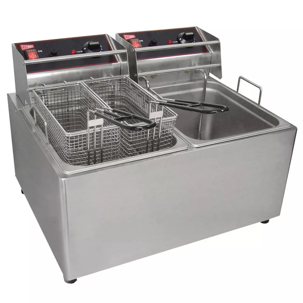 Olievat Bbq Cecilware El2x25 Countertop Electric Fryer 2 15 Lb Vat 240v 1ph