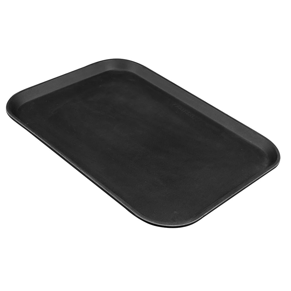 Black Serving Tray Cambro 1216ct110 Rectangular Camtread Serving Tray 12x16 5 8