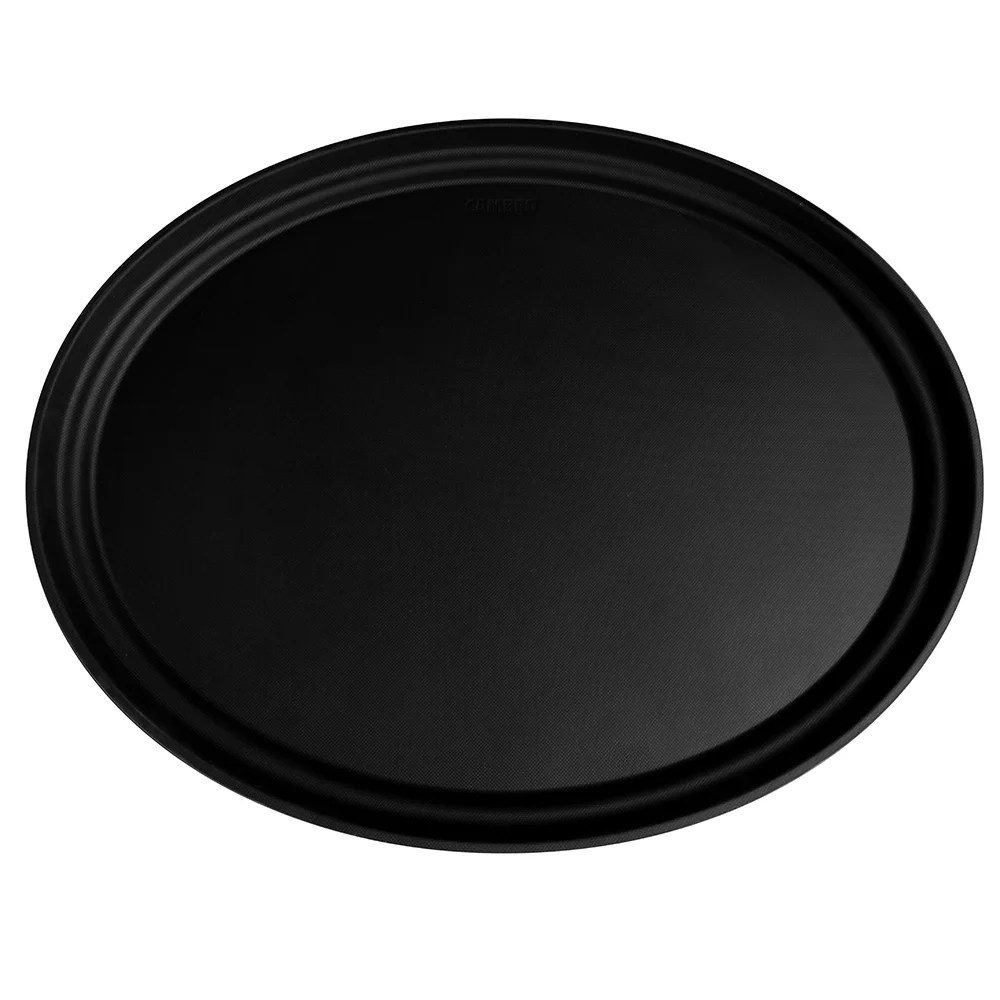 Black Serving Tray Cambro 2500ct110 Oval Camtread Serving Tray 19 1 4x23 1 8