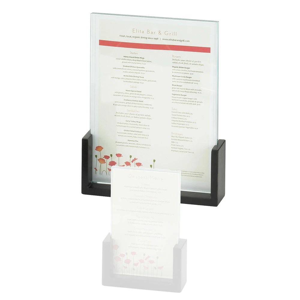 Cal Mil 1510 811 96 Tabletop Menu Card Holder 85quot X 11