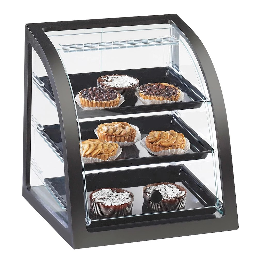 Countertop Food Display Case Cal Mil P255 52 Countertop Display Case W Rear Door Euro Front Dark Wood Frame