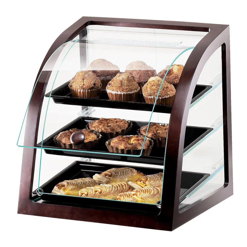 Countertop Food Display Case Cal Mil P255 52s Countertop Display Case W Rear Door Euro Front Dark Wood Trim